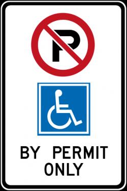 handicap parking road sign